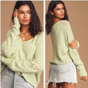 NWT Free People Seashell Slouchy Sweater